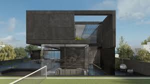 100 Concrete House Designs Black Pitsou Kedem Renderings In 2019 Modern