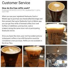 Starbucks Refill Policy Refresher Course