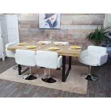 esszimmerstuhl orlando küchenstuhl drehstuhl stuhl kunstleder chrom weiß