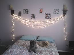 Rather Then Keeping The Christmas Lights Stored Up In Closet I Decorated My Bedroom Wall