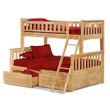 Twin Headboards For Adults 32 Enchanting Ideas With Twin Bed With by Brown Stained Oak Wood Bunk Beds With Red Cover Bed Set And Stairs