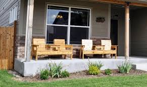 Image Of Rustic Front Porch Furniture Wood