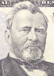 Ulysses S Grant Face On US Fifty Or 50 Dollars Bill Macro United