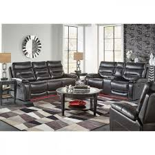 Beautiful Black Leather Recliner Sofa Set Living Dfs Elect
