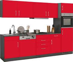held möbel küchenzeile mit e geräten breite 280 cm wahlweise mit induktionskochfeld