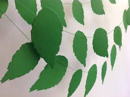 Paper Garland Spring LEAVES Wedding Decor Event Decoration Baby Shower Nursery Party Bridal Themed Home Styling