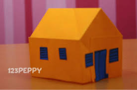 How To Make A House With Color Papers