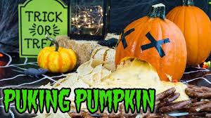 Vomiting Pumpkin Dip by Puking Pumpkin Nachos Halloween Recipes The Starving Chef