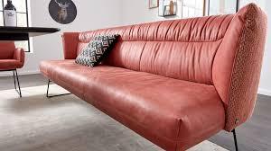 interliving esszimmer serie 5501 lederbank rotes leder z78 15 blush strukturstoff v49 50 chestnut schwarzes metall l