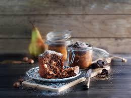 nuss birnen kuchen im glas