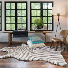 Neutral Zebra Shag Rug Shades Of Light