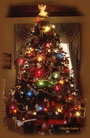 Twinkling Lights On A Realistic Christmas Tree