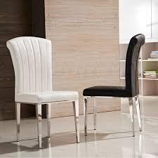 mode klassische stuhl edelstahl leder stühle wohnzimmer esszimmer stuhl schwarz weiß metall leder möbel