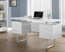 Glass And Metal Computer Desk With Drawers by Computer Desks You U0027ll Love Wayfair