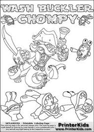 Printable Or Online Colorable Skylanders Swap Force Coloring Page With The Original Swappable Character WASH BUCKLER