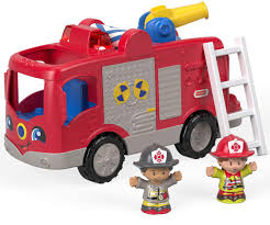 Amazon.com: Fisher-Price Little People, Helping Others Fire Truck ...