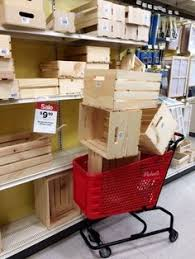 Next Time Youre At Michaels Grab A Few Storage Crates And Copy This Womans Simple Clever Idea