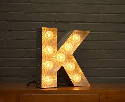 light up marquee bulb letters k by goodwin & goodwin