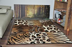 Leopard Print Area Rug Cheap