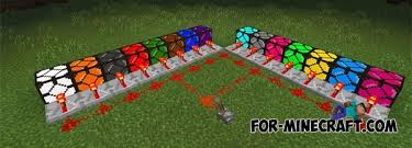 Flashing Redstone Lamp Minecraft by Colored Lightning 2000 Mod For Mcpe 0 14 0