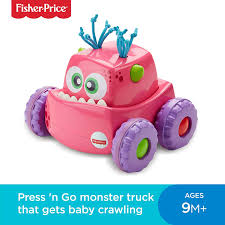 Fisher-Price DRG14 Press-N-Go Monster Truck Pink, Push And Go ...