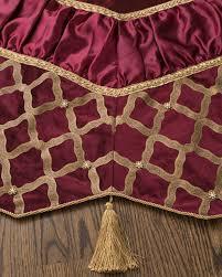 72 Inch Gold Christmas Tree Skirt by Bordeaux Beaded Tree Skirt Balsam Hill