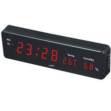 neue große digitale wanduhr modernes design kalender temperatur alarme wand uhr in wohnzimmer startseite dezember