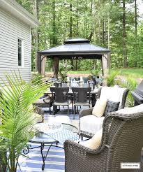 OUR NEW BACKYARD PATIO REVEAL - PERFECT FOR ENTERTAINING! Landscaping Natural Outdoor Design With Rock Ideas 10 Giant Yard Games You Can Diy From Yahtzee To Kerplunk Best 25 Backyard Pavers Ideas On Pinterest Patio Paving The 7 And Speakers Buy In 2017 323 Best Stone Patio Images 4 Seasons Pating Landscape Ponds Kits Desk Drawer Handles My Backyard Garden Yard Design For Village 295 Porch Swings Garden Small Inground Pool Designs Inground