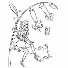 Barbie Fairy Topia Groom And Glam Pups Coloring Pages