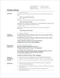 Sample Resume Of College Lecturer Plus Format For Post In Engineering It Make