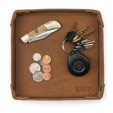 Mens Dresser Top Valet by Genuine Leather Valet Tray