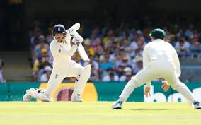 Englands James Vince In Action During Day One Of The Ashes Test Match At Gabba
