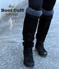 diy knitted boot cuffs pinkwhen