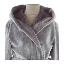 robe de chambre polaire enfant peignoir polaire enfant ares gris blancollection