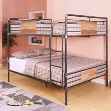 queen over queen bunk beds wayfair