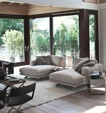 soft cushion contemporary living room with chaise lounges in nice