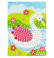 Mosaic Handwork Cartoon Paper Sticker Picture Toys Child Diy Toy Puzzle Crafts For Kids Educational Holiday Gifts In Drawing From