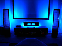 lighting ideas mood lighting living room design with blue led