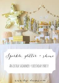 Pink And Gold Birthday Themes by A Glitter Party For Our Sparkle