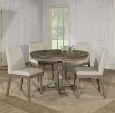 Clarion Round Dining Room Set W/ Upholstered Chairs (Distressed Gray ... Trisha Yearwood Home Music City Hello Im Gone Ding Room Table Grey Griffin Cutback Upholstered Chair Along With Dark Wood Amazoncom Formal Luxurious 5pc Set Antique Silver Finish Tribeca Round And 2 Upholstered Side Chairs American Haddie Light Tone 4 Value Hooker Fniture Corsica Rectangle Pedestal Matisse With W Ladder Back By Paula Deen Vienna Merlot Kayla New