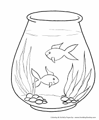 Free Printable Fish Bowl Template Clipart Simple Pencil And In Color