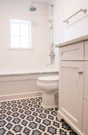 Tiling A Bathtub Deck by Blue Hex Tiles Transitional Bathroom Scott Lyon U0026 Company