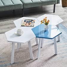 greneric 4x beistelltisch moderne hochglanz sofatische minimalistisch skandinavischer stil couchtische mit beinen tischkombination fürs wohnzimmer