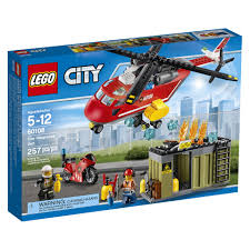 100 Lego City Tanker Truck LEGO Fire Response Unit 60108 Building Set 257 Pieces