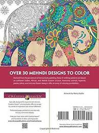 Image Is Loading Creative Haven Mehndi Animal Designs Patterns Dover Coloring