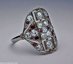 deco ruby and ring deco rings platinum ruby deco ring antique