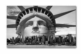 tableau new york libertad noir et blanc l 80 x h 55 cm eline