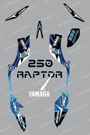 kit deco 250 raptor kit de decoración de espacio azul idgrafix yamaha raptor 250