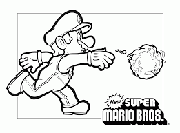 Coloriage Du Jeu Vidéo Super Mario Bros à Imprimer Et à Colorier
