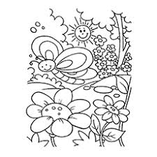 Spring Flowers Printable Coloring Pages God Made Beautiful Climate